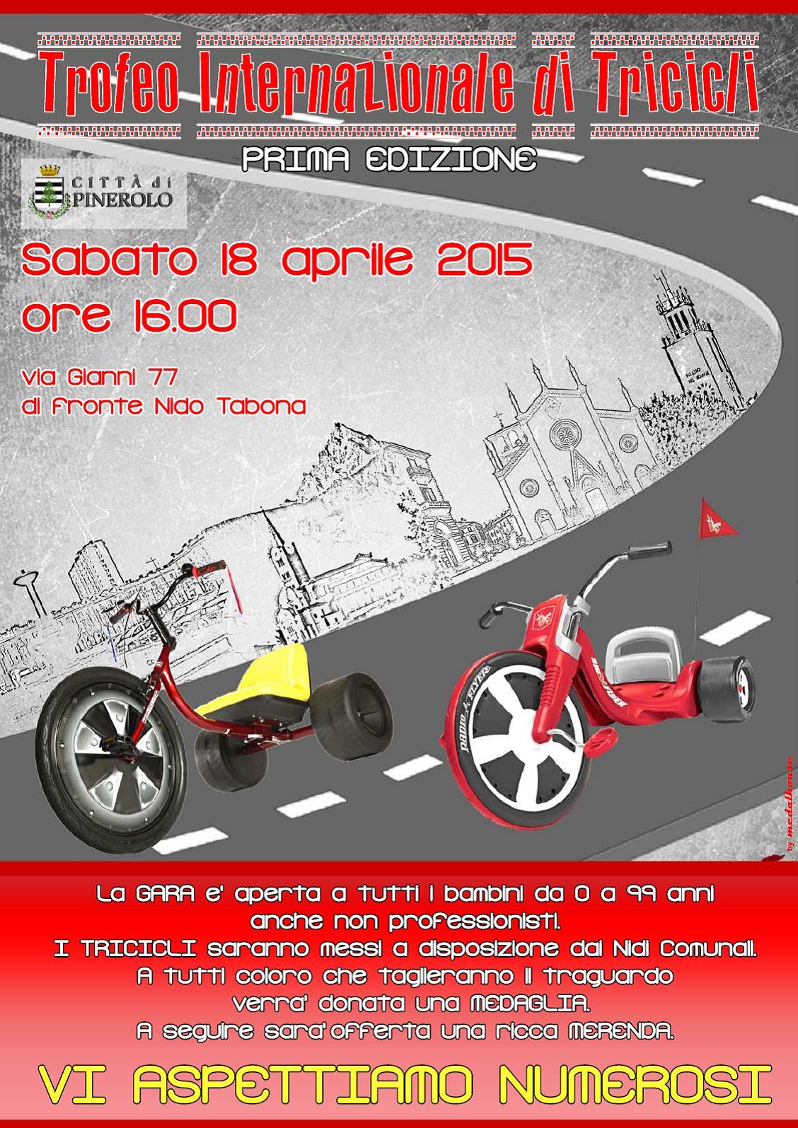 """A Pinerolo il """"Trofeo internazionale di tricicli"""""""
