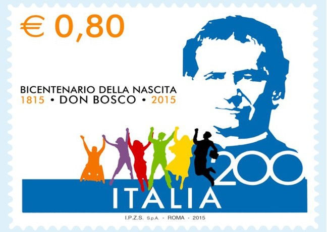Francobollo bicentenario Don Bosco