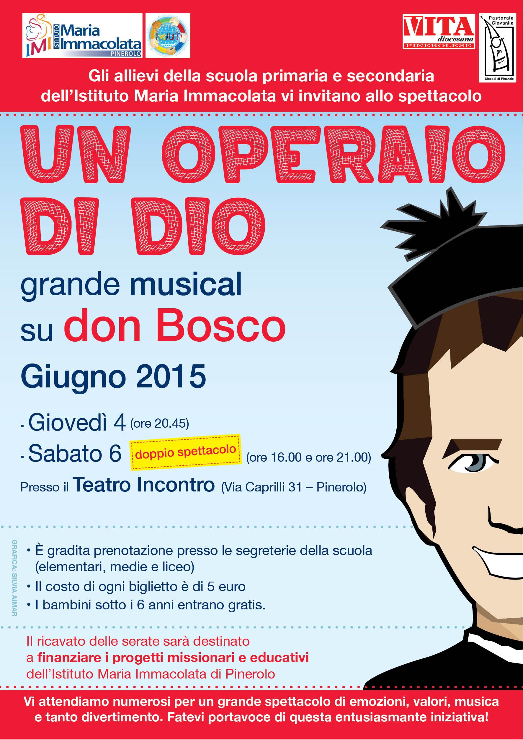 Pinerolo. 4 e 6 giugno: musical su don Bosco al Teatro Incontro