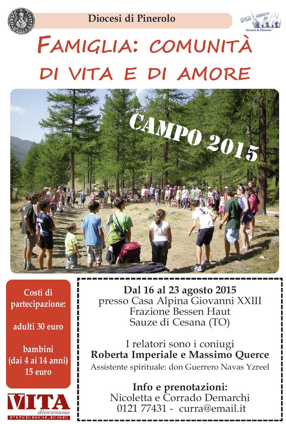 Pastorale famigliare: aperte le iscrizioni per il campo estivo della Diocesi di Pinerolo