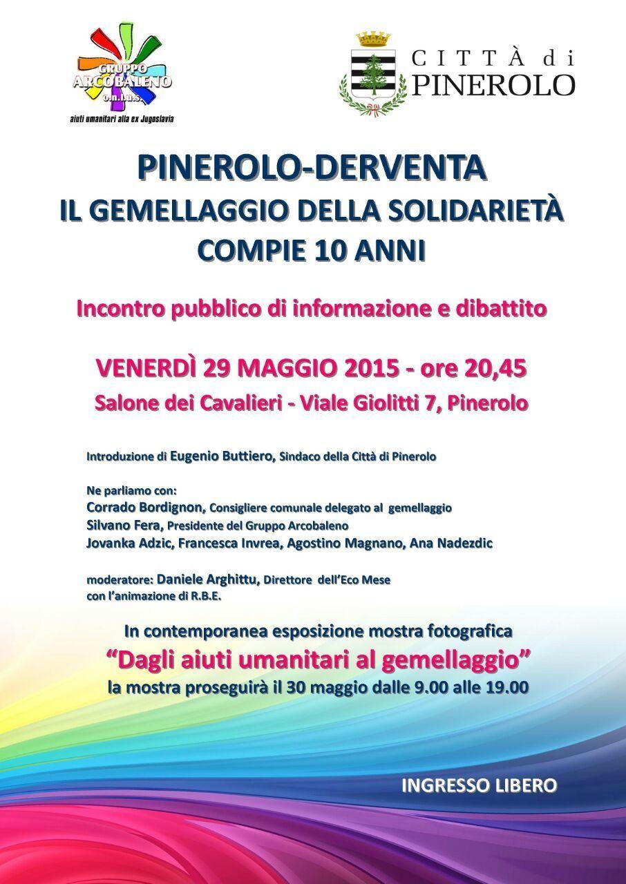 Pinerolo-Derventa: il gemellaggio compie dieci anni