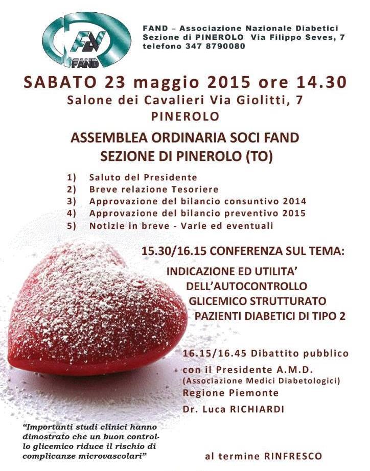 Il 23 maggio a Pinerolo l'assemblea della FAND