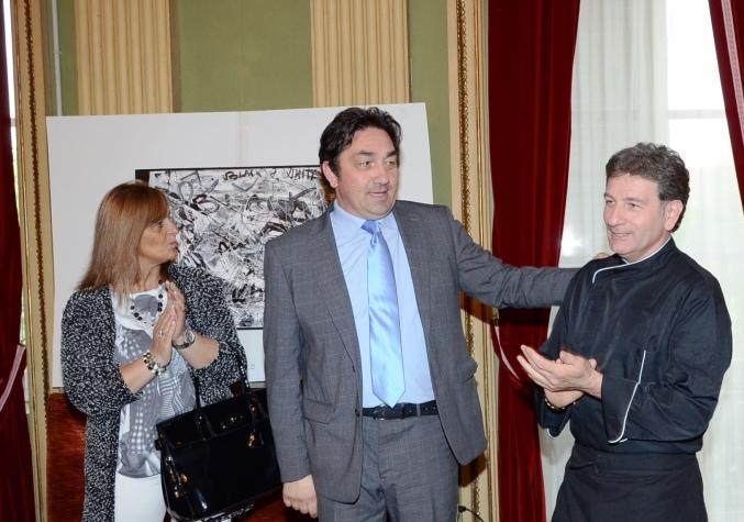 """Inaugurata a Pinerolo """"KALEIDOS"""" la personale del pittore Carlo Massimo Franchi"""