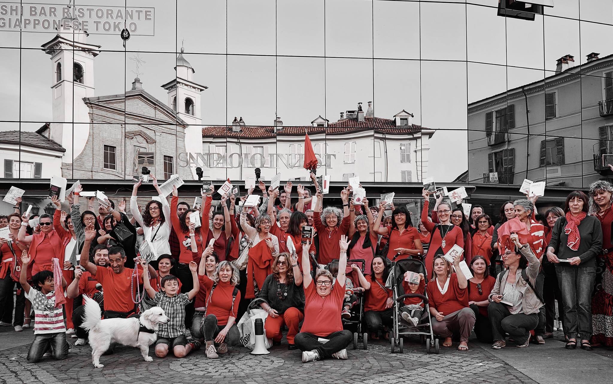 """[ photogallery ] Anche a Pinerolo in piazza per dire di no al d.d.l. """"La buona scuola"""""""