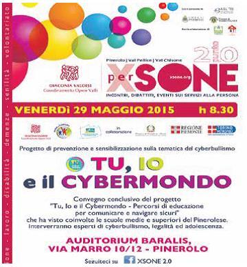 Venerdì 29 maggio a Pinerolo un convegno sul cyberbullismo