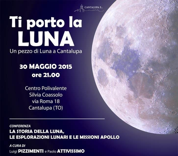 Questa sera a Cantalupa arriva un pezzo di Luna!
