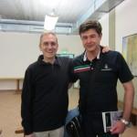 Daniele Mainero con il giornalista Paolo Attivissimo