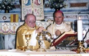Don Andrea Maurino con il Vescovo di Pinerolo