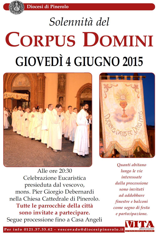 Pinerolo. Giovedì 4 giugno la processione del Corpus Domini