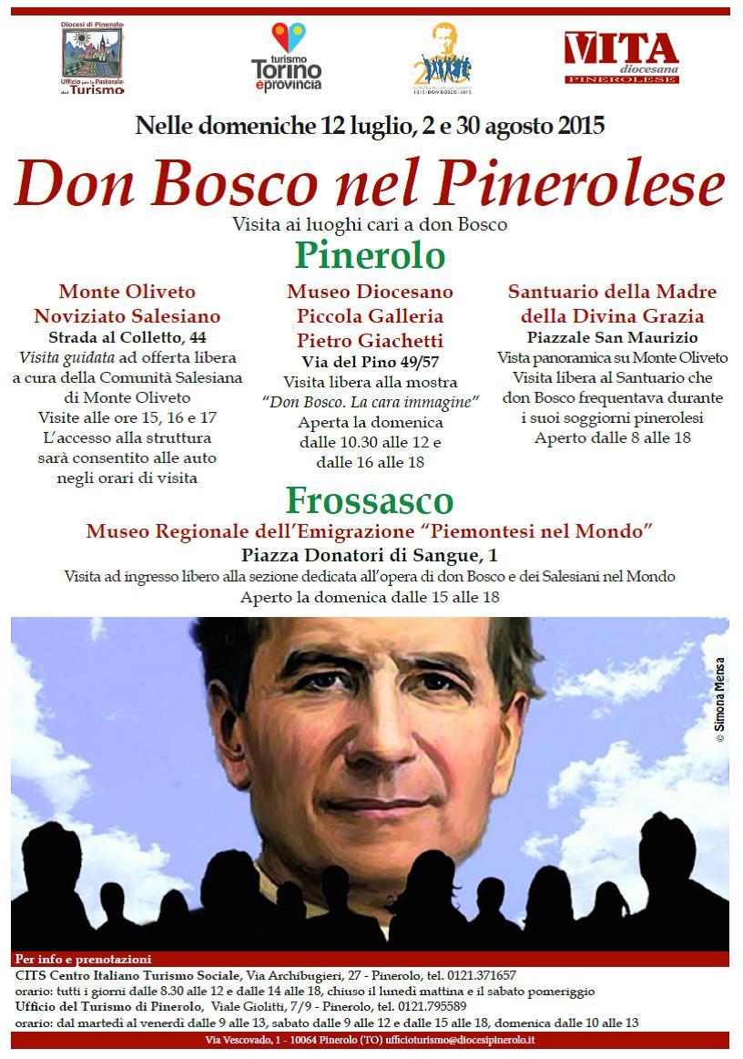 """Domenica 12 luglio la visita """"Don Bosco nel Pinerolese"""""""