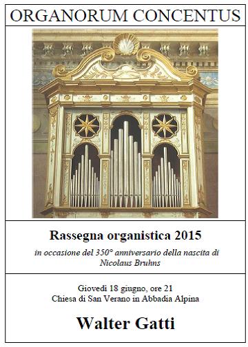 """Giovedì 18 giugno la """"Rassegna organistica"""" fa tappa ad Abbadia"""