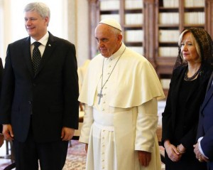 Papa Francesco con il primo ministro canadese