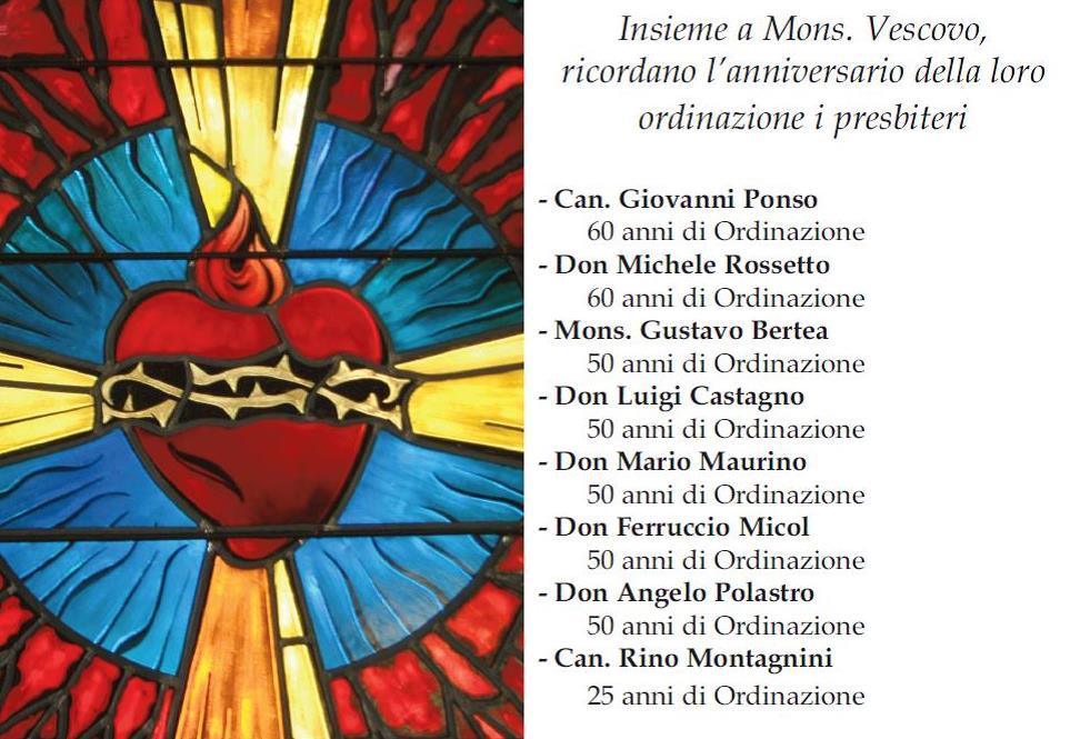 La diocesi di Pinerolo in festa per gli anniversari di ordinazione sacerdotale