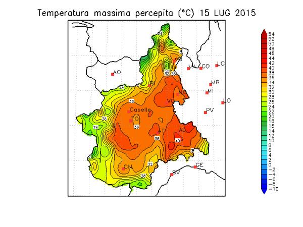 Caldo, domani in Piemonte la giornata più afosa