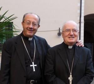 Monsignor Bruno Forte e mons. Pier Giorgio Debernardi