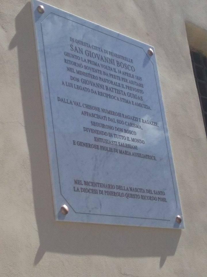 Inaugurata a Fenestrelle una lapide che ricorda il passaggio di don Bosco in Val Chisone