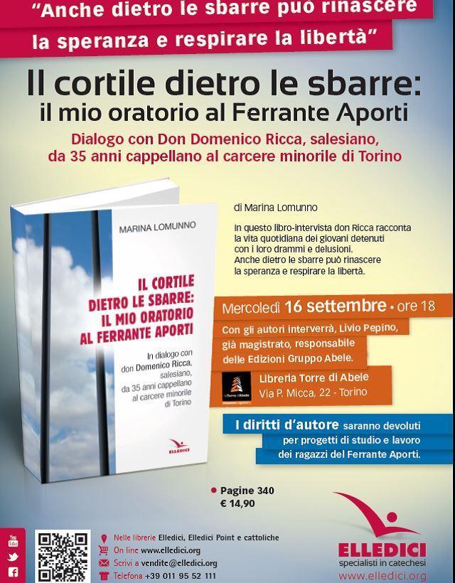 Torino. Il 16 settembre presentazione del libro sui detenuti del Ferrante Aporti
