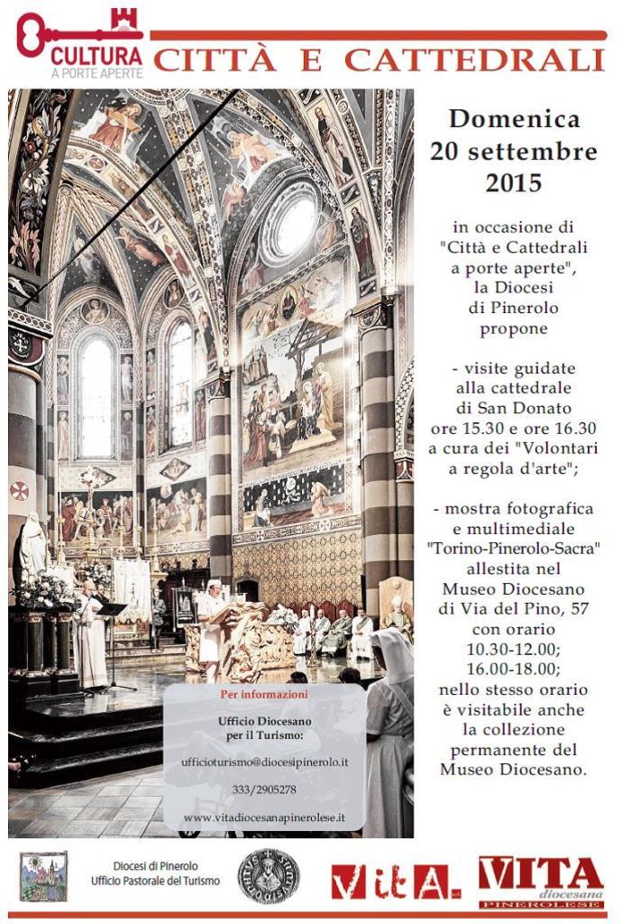 """""""Città e Cattedrali a porte aperte"""". Domenica 20 settembre Pinerolo si fa avanti"""