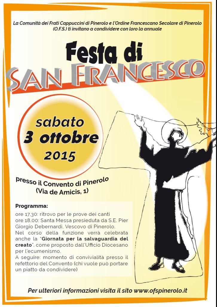 """Pinerolo. Il 3 ottobre la Festa di s. Francesco e la """"Giornata per la salvaguardia del creato"""""""