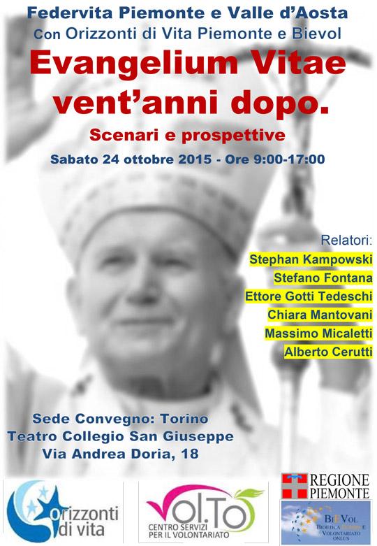 Torino. Un convegno per i vent'anni dell'Evangelium Vitae