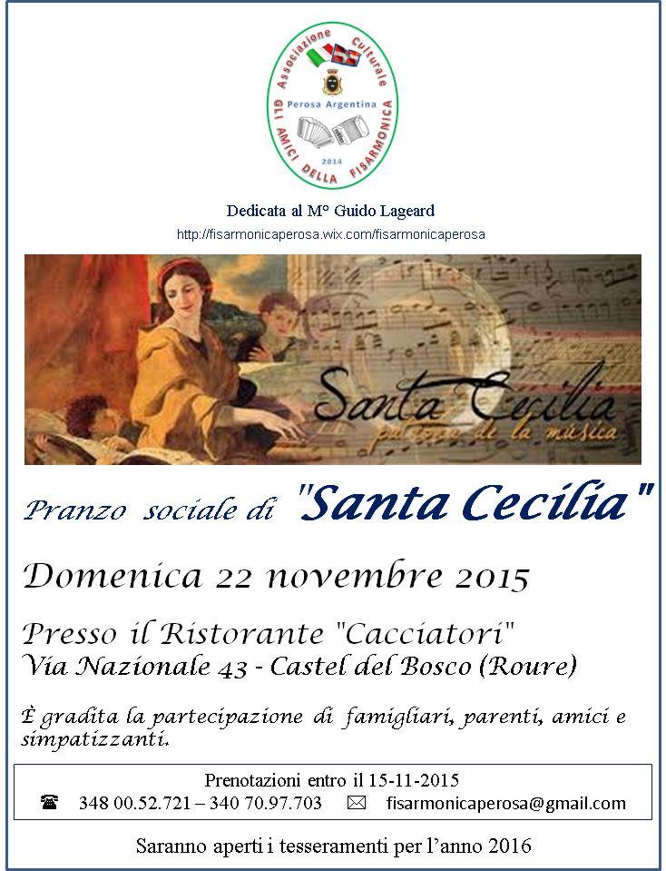 """Domenica 22 novembre pranzo sociale con """"Gli Amici della Fisarmonica"""""""