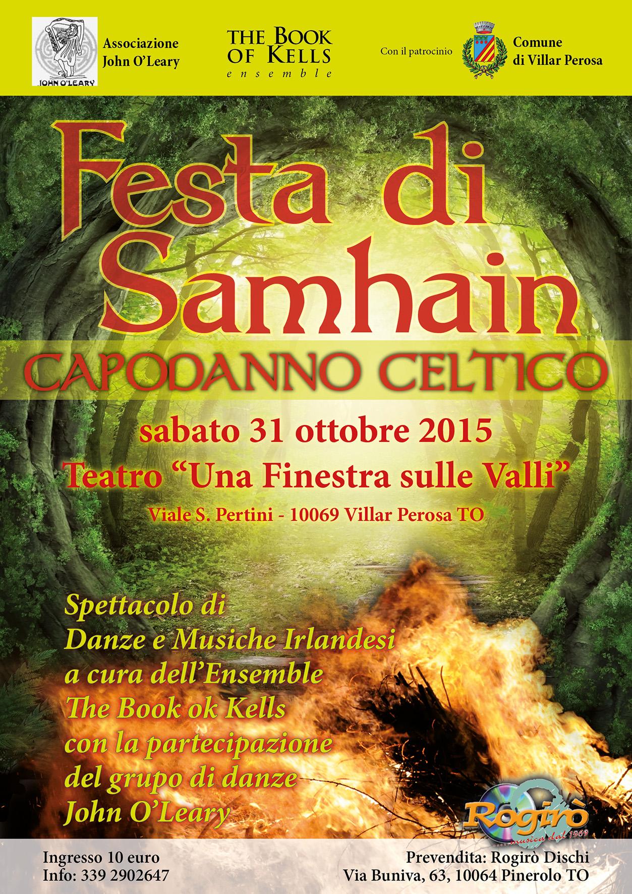"""Il 31 ottobre al Teatro """"Una Finestra sulle Valli"""", il Capodanno Celtico"""