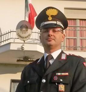 Niko Luciano, comandante della stazione carabinieri di Barge