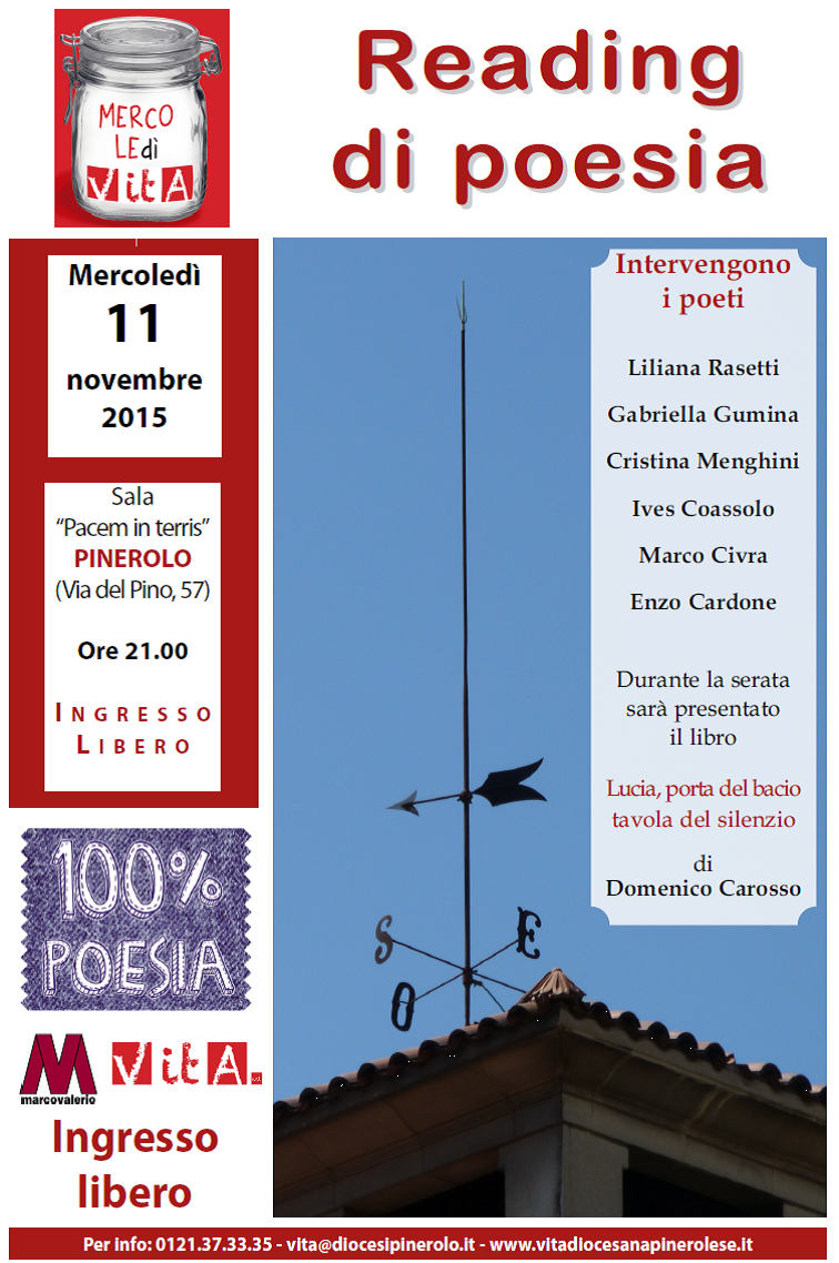 Mercoledì 11 novembre torna 100% Poesia