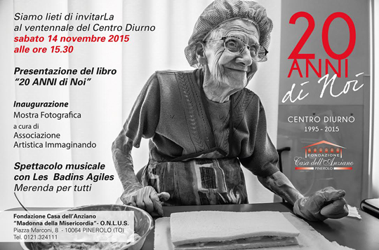 Pinerolo. Il 14 novembre celebrazioni per i 20 anni del Centro Diurno