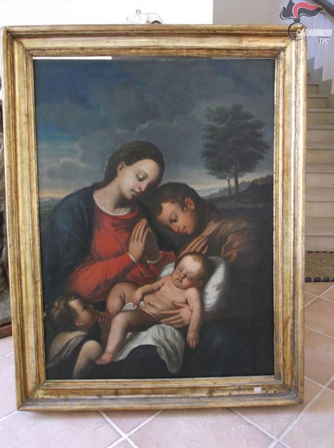 Sequestrati dai Carabinieri alcuni dipinti. Si cerca la provenienza delle tele