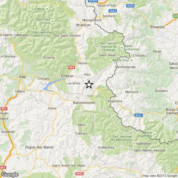Nella notte scossa di terremoto tra Francia e Italia