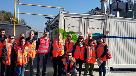 Pinerolo. Visita di Legambiente al primo impianto di produzione Biometano da rifiuti organici