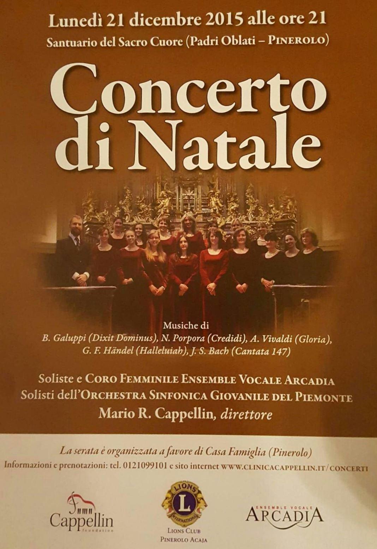 Pinerolo. Il 21 dicembre Concerto di Natale al santuario Sacro Cuore