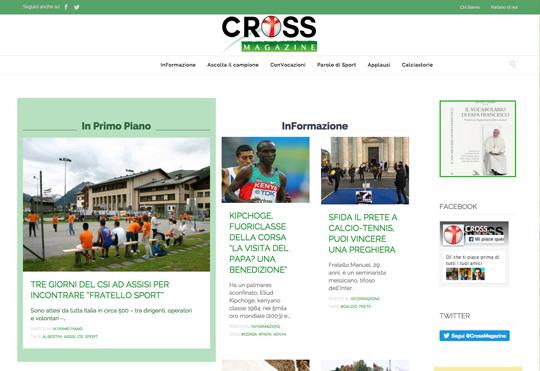 """È nato """"Cross Magazine"""", giornale online su sport e fede"""