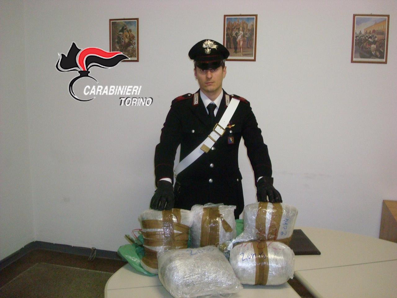San Germano Chisone. 10 kg di droga in cantina: arrestato un albanese