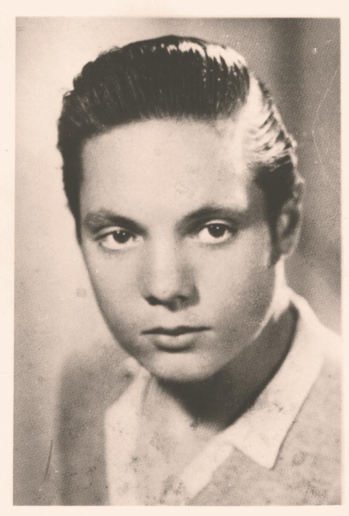 Mario Venturelli a 19 anni