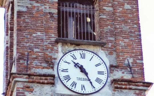 Campiglione. Riappare l'orologio sul campanile di Fenile