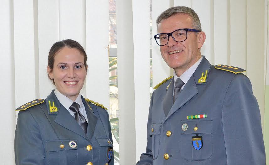 È Francesca Rimonda il nuovo capitano della Guardia di finanza di Pinerolo