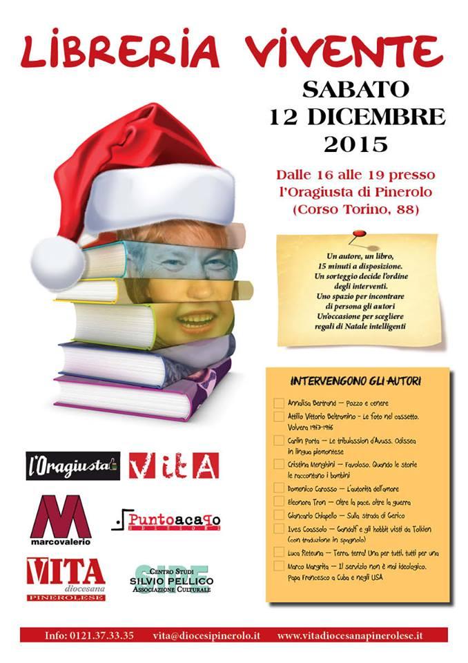 Pinerolo. Sabato 12 dicembre presso l'Oragiusta si incontrano autori e lettori