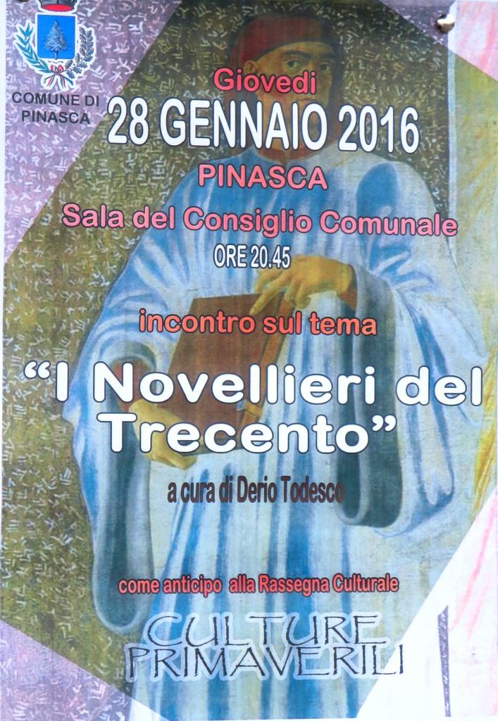 Pinasca. Giovedì 28 gennaio una serata con Derio Todesco e i novellieri del Trecento