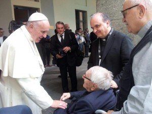 Marco Brunetti con Papa Francesco