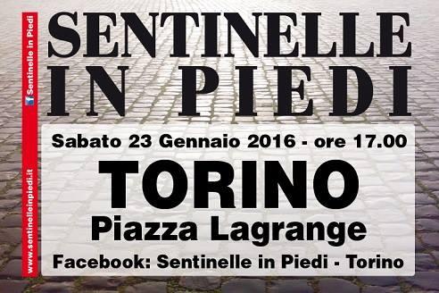 """Sabato 23 gennaio a Torino tornano le """"sentinelle in piedi"""""""