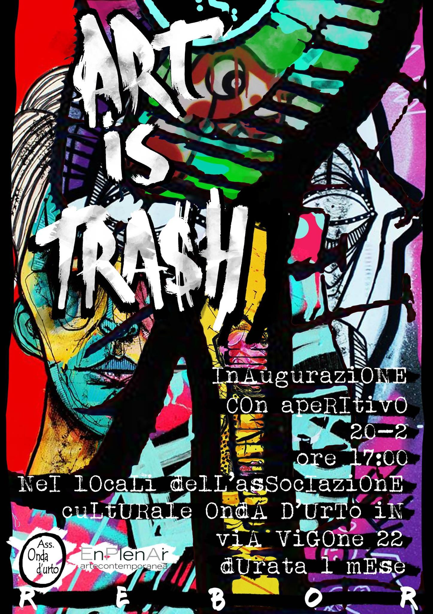 """Pinerolo. Sabato 20 febbraio l'inaugurazione della mostra """"Art is trash"""", le creazioni di Rebor"""