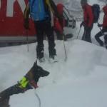 Salvataggio neve Colle Agnello