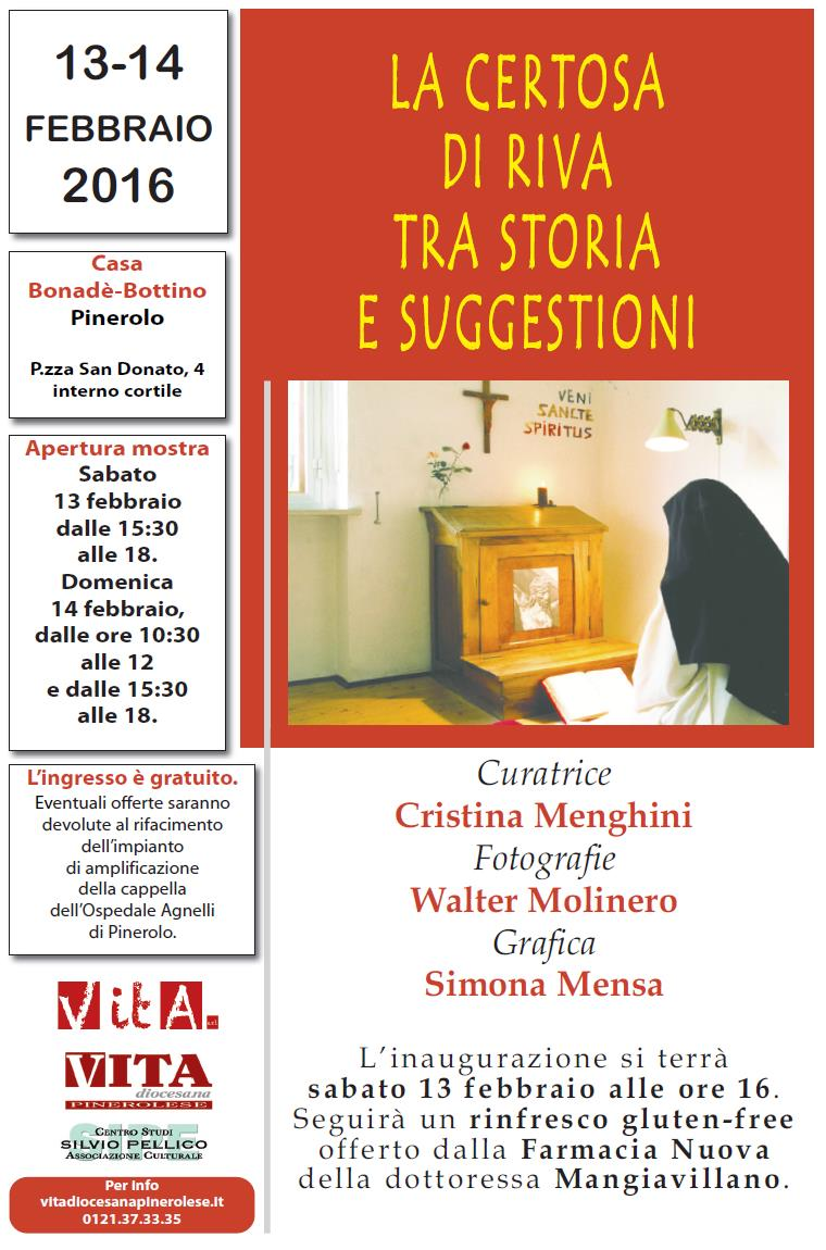 Pinerolo. In una mostra la Certosa di Riva tra storia e suggestioni
