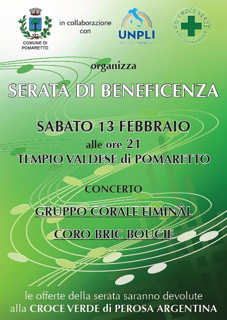 concerto di beneficenza per la Croce Verde