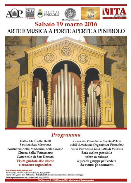 """Pinerolo. Sabato 19 marzo """"Arte e Musica a Porte Aperte"""""""