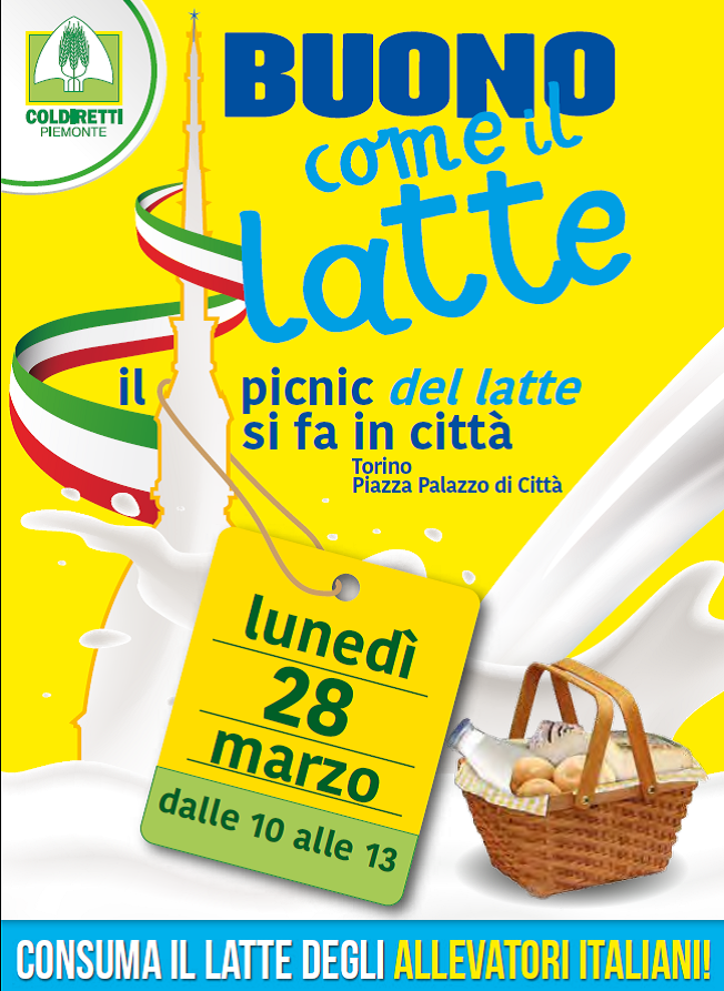 """Torino. A Pasquetta gli allevatori organizzano""""Buono come il latte""""… Ma del Piemonte"""