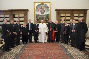 Valdesi con Papa Francesco - Foto Osservatore Romano