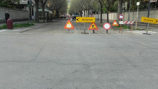 Pinerolo. Viale Cavalieri d'Italia chiuso due giorni per lavori